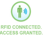 RFID connected. Access granted.